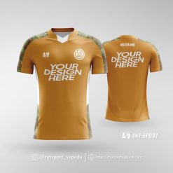 Jersey Sepeda Motif Army Gold